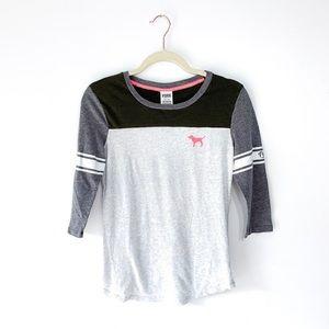 Victoria Secret Raglan Baseball Tee Shirt